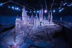 A model of Hogwarts Castle   which was revealed for the first time , Thursday, March 1st , as part of the Warner Bros Studio tour - The Making of Harry Potter in Leavesden, Hertfordshire.  Photo by: Andrew Parsons  / i-Images