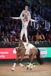 Engelberty, Pia;<br /> Jacobs, Torben, Danny Boy<br /> Leipzig - Partner Pferd<br /> Weltcup Voltigieren <br /> © www.sportfotos-lafrentz.de/Stefan Lafrentz