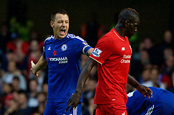 LONDON, ENGLAND - Saturday, October 31, 2015: Chelsea's captain John Terry during the Premier League match against Liverpool at Stamford Bridge. (Pic by Lexie Lin/Propaganda)