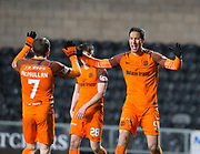 Bilel Mohsni of Dundee United celebrates after scoring his side's second goal with Paul McMullan - Dundee United v Dumbarton in the SPFL Championship at Tannadice, Dundee<br /> <br />  - &copy; David Young - www.davidyoungphoto.co.uk - email: davidyoungphoto@gmail.com