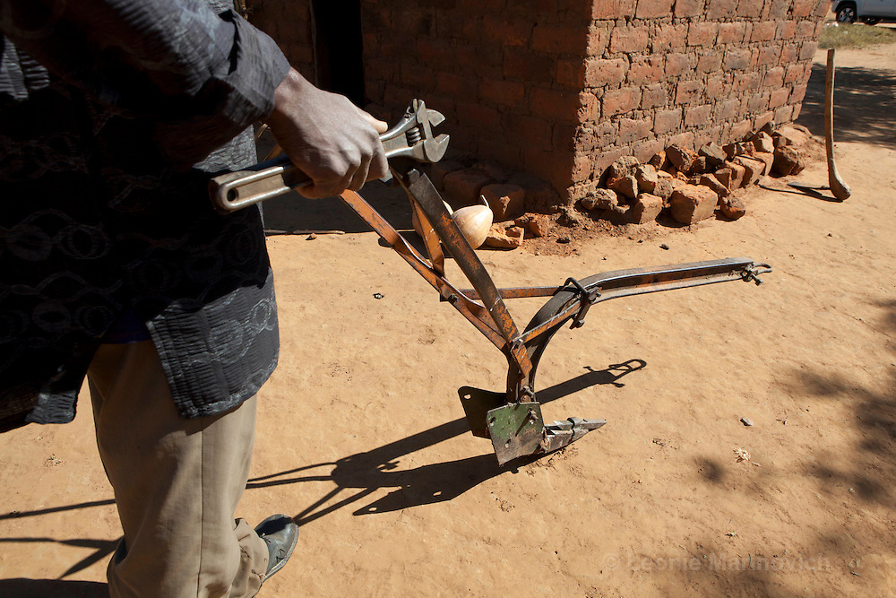 8 June 2010, Mazabuka & Monze, Zambia. The Magoye ripper was developed in Zambia for use in Conservation Agriculture, where one of the main principles is to disturb the soil as little as possible.