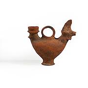 Zoomorphic terracotta vessel Byzantine period 5-7th century CE