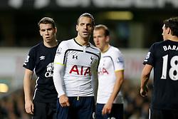 Roberto Soldado of Tottenham Hotspur looks on - Photo mandatory by-line: Rogan Thomson/JMP - 07966 386802 - 30/11/2014 - SPORT - FOOTBALL - London, England - White Hart Lane - Tottenham Hotspur v Everton - Barclays Premier League.