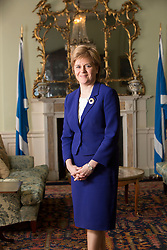First Minister of Scotland Nicola Sturgeon, speaking to Andrew Nicol toady at Bute House.