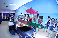 Chennaiyin FC hospitality lounge during match 41 of the Hero Indian Super League between Chennaiyin FC and Delhi Dynamos FC   held at the Jawaharlal Nehru Stadium, Chennai India on the 7th January 2018<br /> <br /> Photo by: Arjun Singh  / ISL / SPORTZPICS