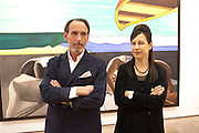 MAUREEN PALEY; DAVID SALLE, David Salle private view at the Maureen Paley Gallery. 21 Herlad St. London. E2. <br /> <br />  , -DO NOT ARCHIVE-&copy; Copyright Photograph by Dafydd Jones. 248 Clapham Rd. London SW9 0PZ. Tel 0207 820 0771. www.dafjones.com.