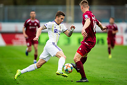 Luka Zahović of Maribor vs Kristjan Arh Česen of Triglav during Football match between NK Triglav and NK Maribor in 25th Round of Prva liga Telekom Slovenije 2018/19, on April 6, 2019, in Sports centre Kranj, Slovenia. Photo by Vid Ponikvar / Sportida