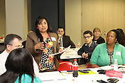 HISD principals, teachers, and parents discuss ways to incorporate career and technical education into new schools being built under the 2012 bond program.