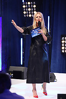 Edith Bowman on stage during O2 Silver Clef Awards 2019, Grosvenor House, London, UK, Friday 05 July 2019<br /> Photo JM Enternational