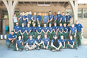 Crews 51 and 21 of the Entiat and Chelan Ranger Districts pose for crew photos at Steliko, Entiat Ranger District, Wash., on June 26, 2009.  (Photo by Aaron Schmidt © 2009)