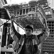 Egypt. Cairo : street sharia   al Mu'izz Li Din Allah north part, street life and market , near Bab al Futuh gate  Cairo - Egypt  <br /> / rue -sharia   al Mu'izz Li Din Allah partie nord, pres de la  porte de Bab al Futuh, marche scenes de rue  Le Caire - Egypt