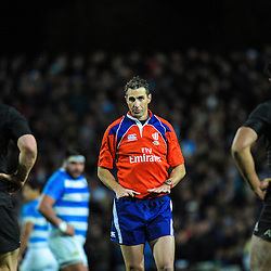 Referee Craig Joubert during The Rugby Championship match between the NZ All Blacks and Argentina Pumas at FMG Stadium in Hamilton, New Zealand on Saturday, 10 September 2016. Photo: Dave Lintott / lintottphoto.co.nz