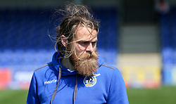 Stuart Sinclair of Bristol Rovers inspects the pitch before kick off - Mandatory by-line: Arron Gent/JMP - 19/04/2019 - FOOTBALL - Cherry Red Records Stadium - Kingston upon Thames, England - AFC Wimbledon v Bristol Rovers - Sky Bet League One