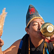 Mad Monk drinks from Gourd, Taitian Temple of Nankunshen, Kun Chiang Village, Beimen Township, Tainan County, Taiwan