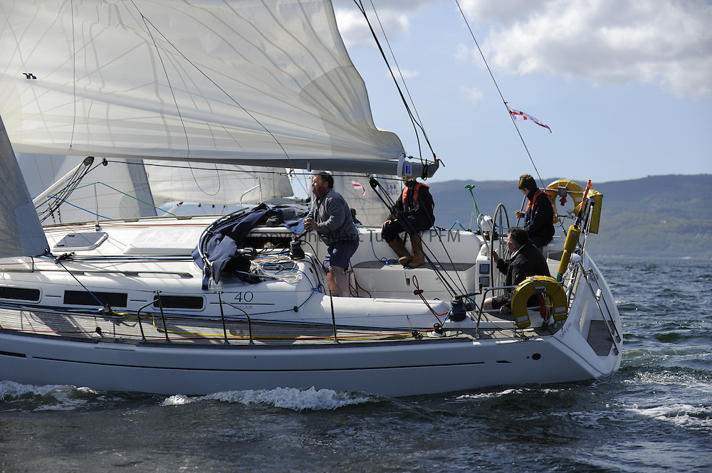 The Clyde Cruising Club's Scottish Series held on Loch Fyne by Tarbert. Day 2 racing in a perfect southerly<br /> <br />  GBR8869T, Spirit of May, Alastair Torbet, CCC, Dufour 40