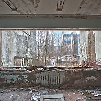 Shot in an abandoned building in Pripyat in the aftermath of the Chernobyl disasters.