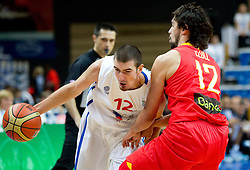 Nando de Colo of France vs Sergio Llull of Spain during basketball game between National basketball teams of France and Spain at FIBA Europe Eurobasket Lithuania 2011, on September 11, 2011, in Siemens Arena,  Vilnius, Lithuania.  (Photo by Vid Ponikvar / Sportida)
