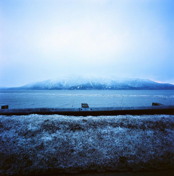 Guard rail on Turnagain Arm, Alaska. 2009