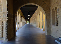 The yellow sandstone arches & cloisters which are typical of the buildings  at Stanford University, Stanford, California, USA. Taken May 2013. 201305022331<br /> <br /> Copyright Image from Victor Patterson, 54 Dorchester Park, Belfast, UK, BT9 6RJ<br /> <br /> Tel: +44 28 9066 1296<br /> Mob: +44 7802 353836<br /> Voicemail +44 20 8816 7153<br /> Skype: victorpattersonbelfast<br /> Email: victorpatterson@me.com<br /> Email: victorpatterson@ireland.com (back-up)<br /> <br /> IMPORTANT: If you wish to use this image or any other of my images please go to www.victorpatterson.com and click on the Terms & Conditions. Then contact me by email or phone with the reference number(s) of the image(s) concerned.