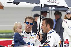 June 10, 2018 - Brooklyn, Michigan, U.S - NASCAR driver BRAD KESELOWSKI (2) waits for the rain to clear up at Michigan International Speedway. (Credit Image: © Scott Mapes via ZUMA Wire)