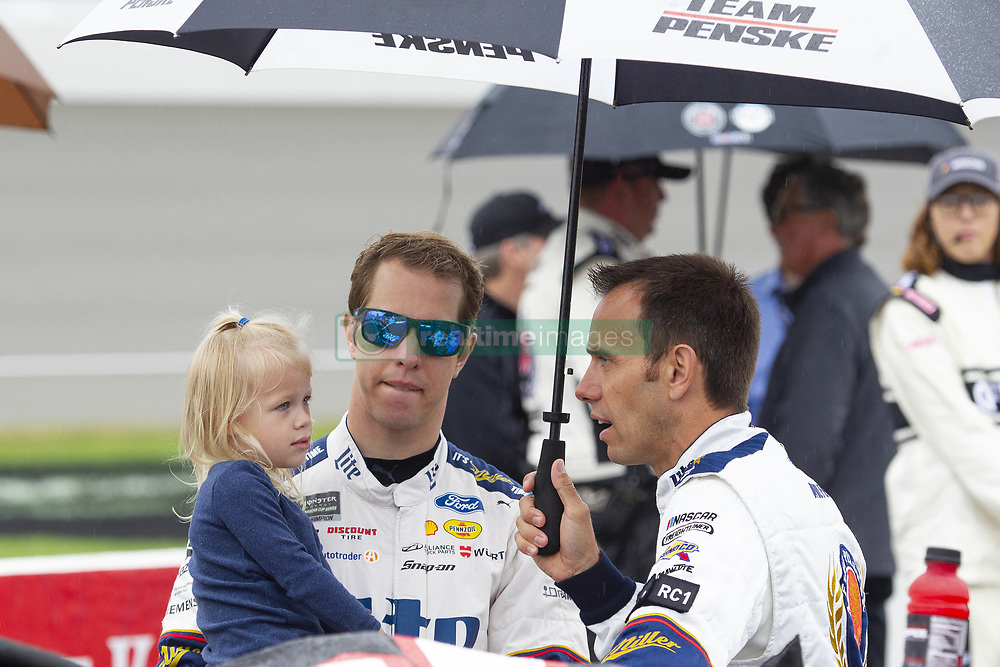 June 10, 2018 - Brooklyn, Michigan, U.S - NASCAR driver BRAD KESELOWSKI (2) waits for the rain to clear up at Michigan International Speedway. (Credit Image: © Scott Mapes via ZUMA Wire)