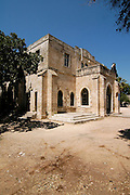 Old templer building in Beit Lehem Haglilit, Israel. Beit Lehem Haglilit, litiraly, Bethlehem of the Galilee is a small community located in the western Galilee (northern Israel) was founded by the Haifa Templers in 1906