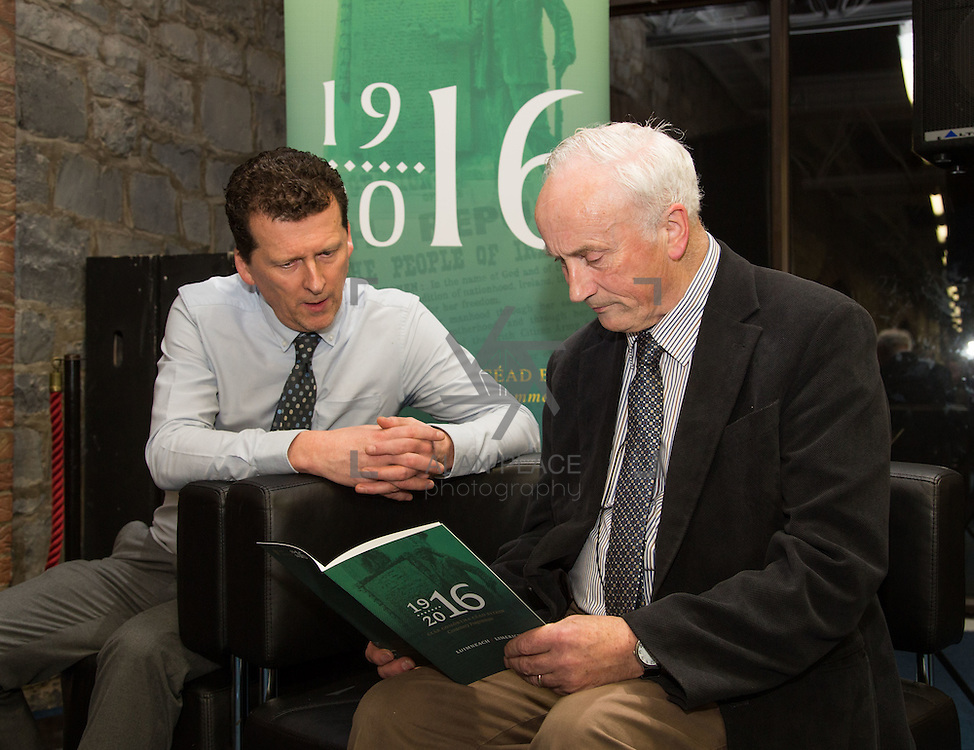 27.01.2016<br /> The Limerick City Library kicked off its series of lectures to mark the centenary of the 1916 Rising with a talk by Tom Toomey, author of the acclaimed 'The War of Independence in Limerick'.<br /> Attending the event were, Tony Storan and Tom Toomey. Picture: Alan Place