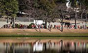 Belo Horizonte, 22 de agosto de 2010...Corrida da Primavera . Evento patrocinado pela Adidas,  com a participacao de mais de 6000 atletas, na orla da Lagoa da Pampulha. O evento e dividido em competicaoes de 5 e 10 kilometros...Photo: Bruno Magalhaes / LatinContent / Getty Images