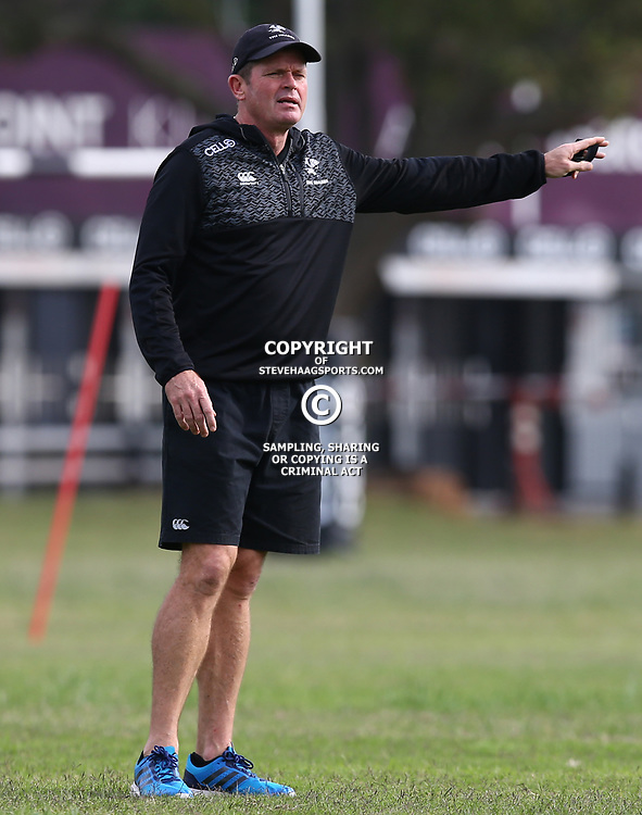 Sean Everitt (Assistant Coach) of the Cell C Sharks during The Cell C Sharks training session at Growthpoint Kings Park in Durban, South Africa. 21 August 2017(Photo by Steve Haag)<br /> <br /> images for social media must have consent from Steve Haag
