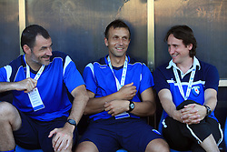 Borut Mavric, Miran Srebrnic and Primoz Gliha during 2nd match of 1st round Intertoto Cup soccer match between ND Gorica and Hibernians FC at Sports park, on June 28,2008, in Nova Gorica, Slovenia. (Photo by Vid Ponikvar / Sportal Images)