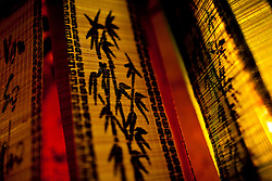 Detail of a bamboo curtain, Vietnam, Southeast Asia