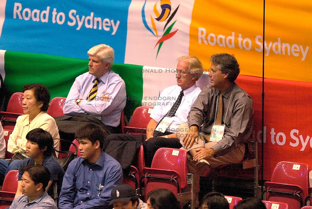 22-06-2000 JAP: OKT Volleybal 2000, Tokyo<br /> Nederland - Korea 3-1 / Jos Smulders, Jan Tilmans