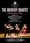 The Brodsky Quartet Poster for Cadogan Hall, Concert Hall, London