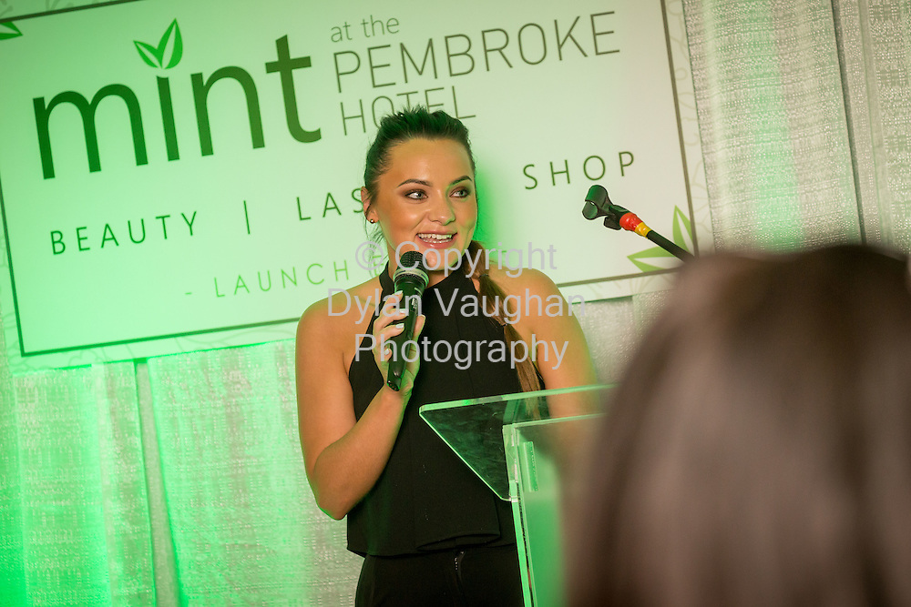 Repro Free no charge for Repro<br /> 19-5-16<br /> <br /> A brand new beauty experience has launched in Kilkenny. The city&rsquo;s four star boutique Pembroke Hotel has opened its new &lsquo;MINT at the Pembroke&rsquo; Beauty, Laser and Shop destination. Pictured at the launch is Jessica Moulds.<br /> <br /> Picture Dylan Vaughan.