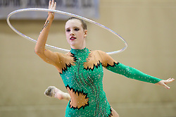 Manca Marcelan of Slovenia during 24th MTM International Youth Tournament in Rhythmic Gymnastics organized by Narodni dom Ljubljana, on April 9, 2011 in Arena Krim Galjevica, Ljubljana, Slovenia.  (Photo By Vid Ponikvar / Sportida.com)