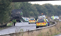 A27 Two Lorries closed