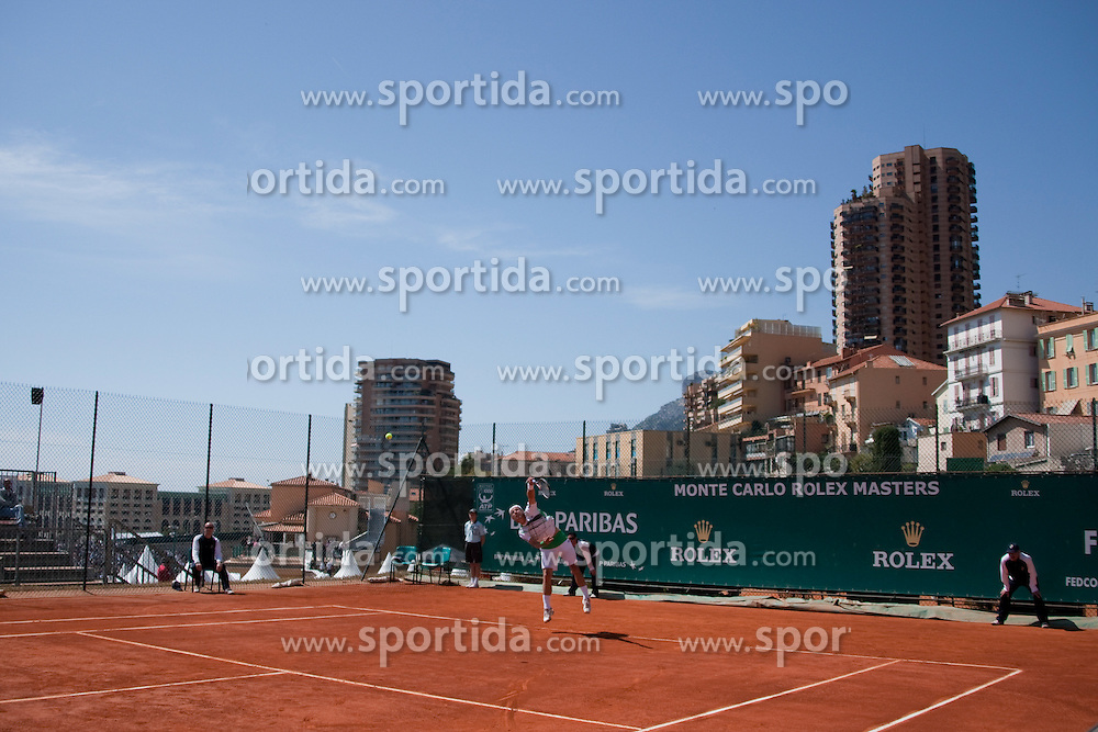 14.04.2010, Country Club, Monte Carlo, MCO, ATP, Monte Carlo Masters, im Bild A general view of Juergen Melzer (AUT) in action. EXPA Pictures © 2010, PhotoCredit: EXPA/ M. Gunn / SPORTIDA PHOTO AGENCY