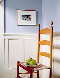 ladder back chair with Pears and wainscoting VA1_803_266