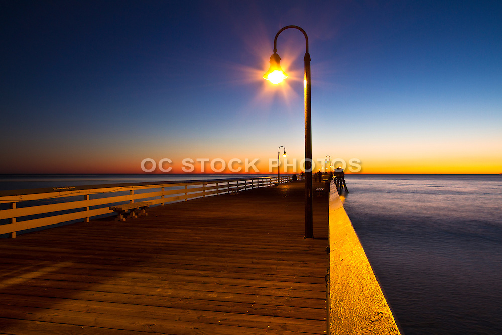 On the San Clemente Pier at Dusk