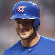 Kris Bryant, Chicago Cubs, during the New York Mets Vs Chicago Cubs MLB regular season baseball game at Citi Field, Queens, New York. USA. 30th June 2015. Photo Tim Clayton