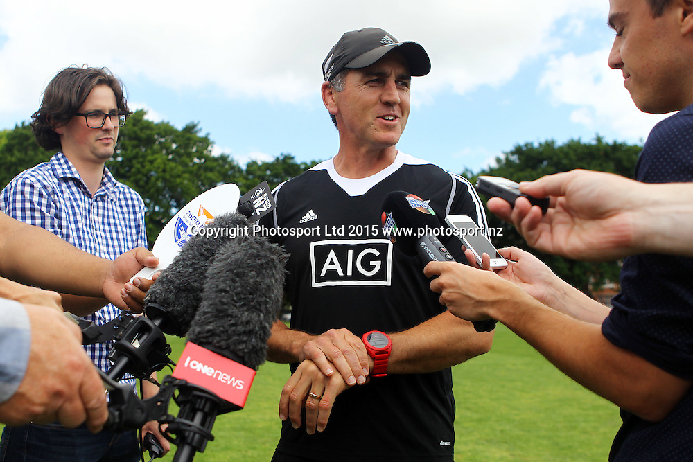 Head coach Sean Horan, New Zealand Women's Rugby Sevens Team Training Session, Kings College, Auckland. 26 November 2015. Photo: William Booth / www.photosport.nz