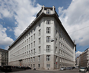 Corner elevation. Post Office Savings Bank, Vienna, Austria 1904-12 Architect: Otto Wagner