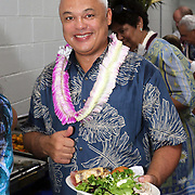 Invitees from Starkist and Bumble Bee included former Starkist GM, Brett Butler at the STP/TriMarine Cannery Innauguration ceremonies and festivities, Satala, Tutuila, American Samoa. 1/24/15,  Photo by Barry Markowitz.