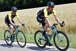 July 4, 2017 - Mondorf Les Bains / Vittel, Luxembourg / France - VITTEL, FRANCE - JULY 4 :  MARTENS Paul (GER) Rider of Team Lotto NL - Jumbo, WAGNER Robert (GER) Rider of Team Lotto NL - Jumbo during stage 4 of the 104th edition of the 2017 Tour de France cycling race, a stage of 207.5 kms between Mondorf-Les-Bains and Vittel on July 04, 2017 in Vittel, France, 04/07/2017 (Credit Image: © Panoramic via ZUMA Press)