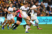 London Irish fly half Paddy Jackson (10) kicks for possession during the Gallagher Premiership Rugby match between Wasps and London Irish at the Ricoh Arena, Coventry, England on 20 October 2019.
