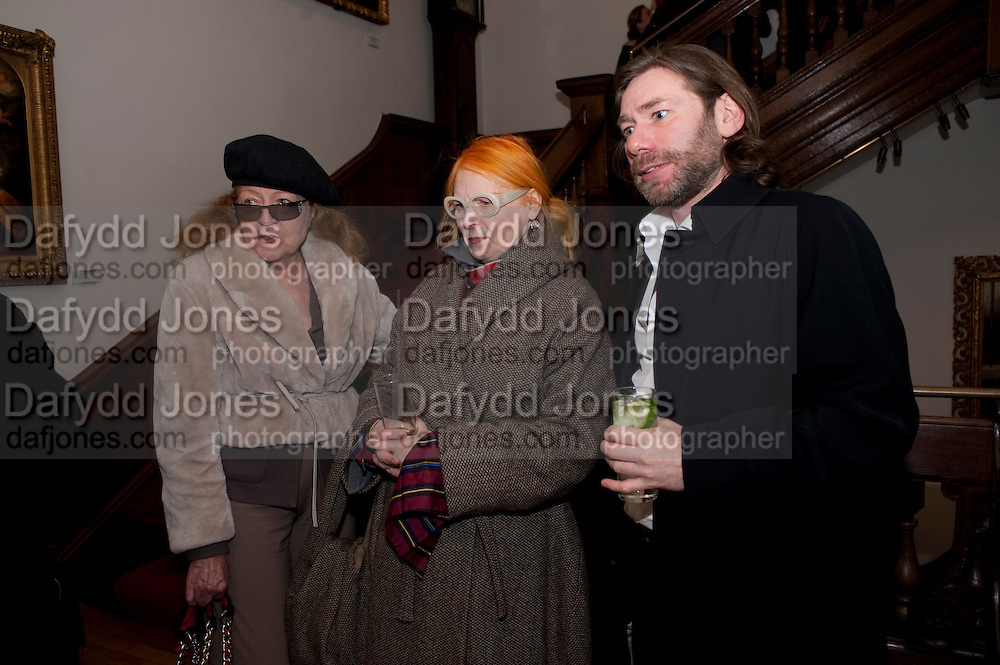 GISELLE MANLENEAD; VIVIENNE WESTWOOD; MAT COLLISHAW, Mat Collishaw, Tracey Emin & Paula Rego: At the Foundling. Foundling Museum. Brunswick Square. London. 12 February 2010.