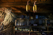 Traditional pantry for storing food, herbs and wine. Photographed in Signagi, Kakheti region, Georgia