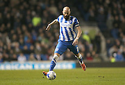 Brighton defender, Bruno Saltor (2) during the Sky Bet Championship match between Brighton and Hove Albion and Reading at the American Express Community Stadium, Brighton and Hove, England on 15 March 2016.