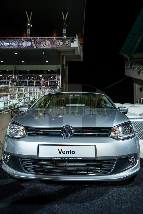 VW car during match 15 of the the Indian Premier League ( IPL) 2012  between The Kolkata Knight Riders and The Rajasthan Royals held at the Eden Gardens Stadium in Kolkata on the 13th April 2012..Photo by Saikat Das/IPL/SPORTZPICS