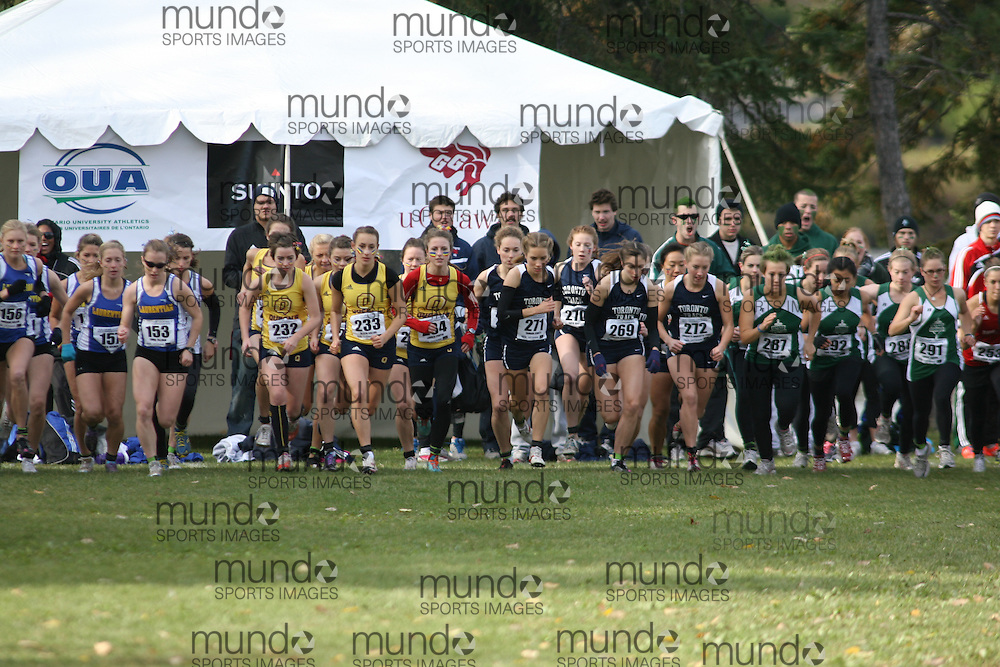 Ottawa, Ontario ---29-10-11--- The start of the 2011 women's OUA XC Championships presented by Suunto